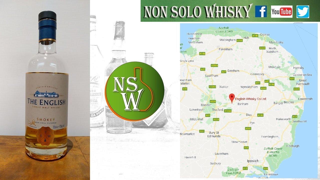 The English Smokey Single malt english whisky unchill filtered 43%