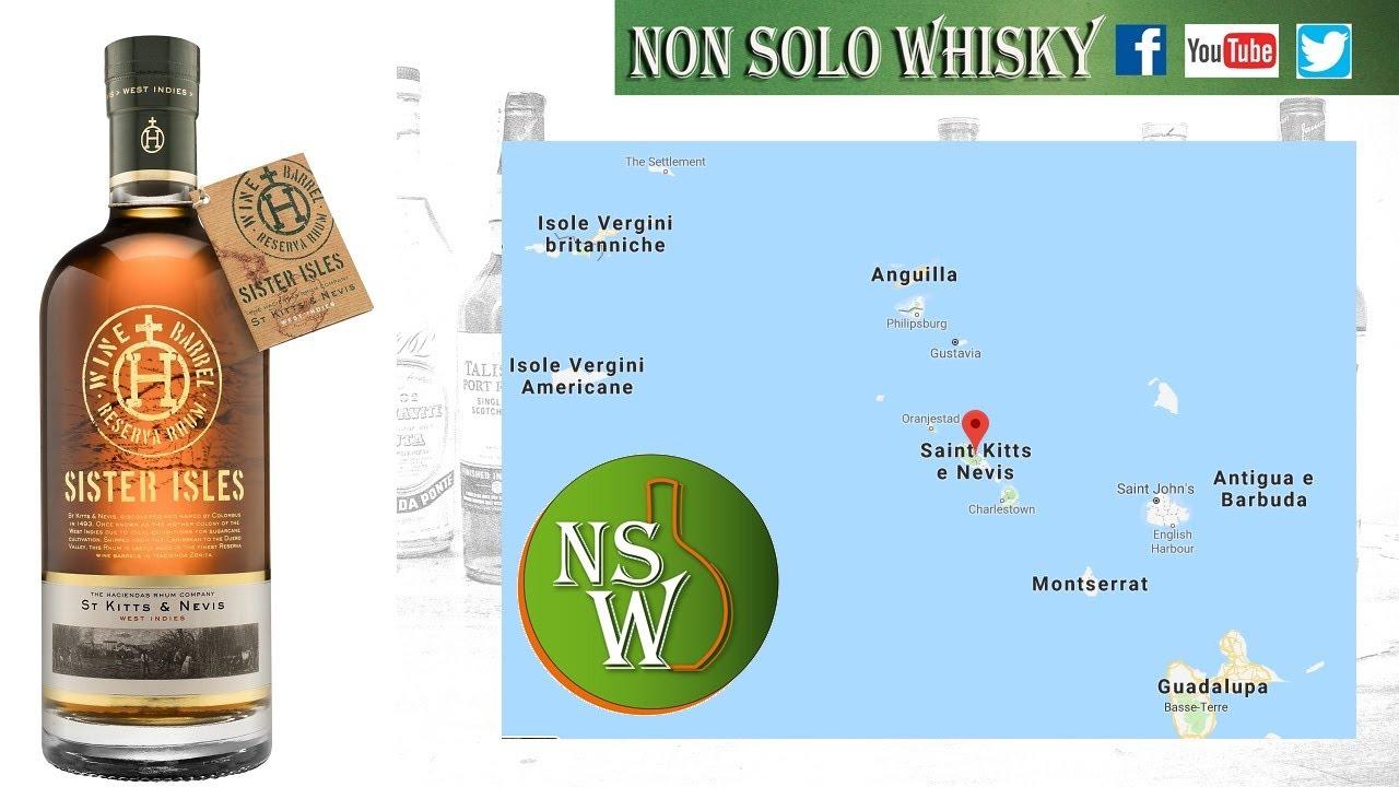 St Kitts e Nevis Rum Sister Isles 40%